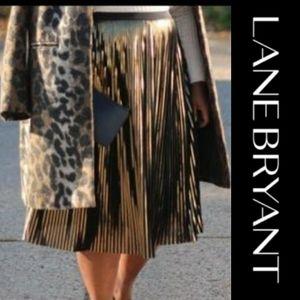 Lane Bryant | Metalic Pleated Skirt